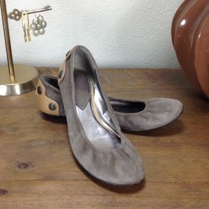 B. Makowsy Tan Suede & Leather Ballet Flat